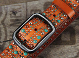 Turquoise Women's Pattern Belt ... CF014 - Arnaud and Co