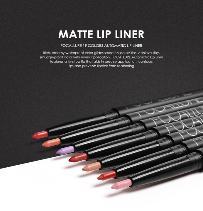 Waterproof Lip Liner Focallure 19 Colors #12 CHESTNUT ... LG104 - Arnaud and Co