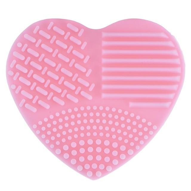 Colorful Heart Shape Clean Make up Brushes Wash Brush Silica Glove Scrubber Board Cosmetic Cleaning Tools for makeup brushes - Arnaud and Co