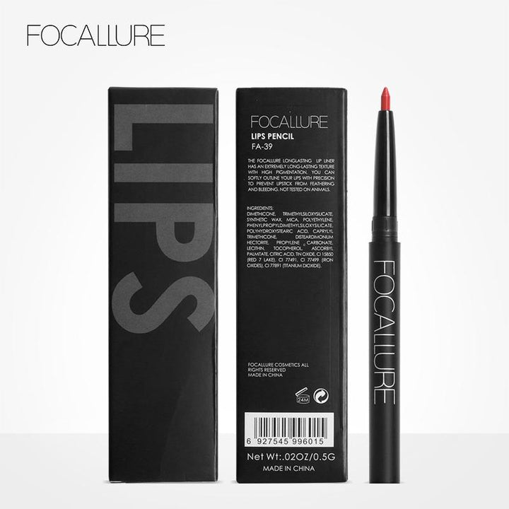 Waterproof Lip Pencil Focallure 19 Colors #1 CARDINAL ... LG93 - Arnaud and Co