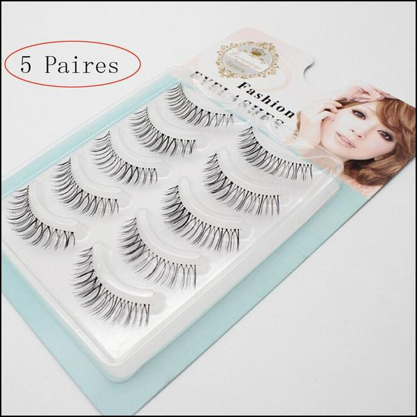 5 Pair False natural lashes long and thick. - Arnaud and Co