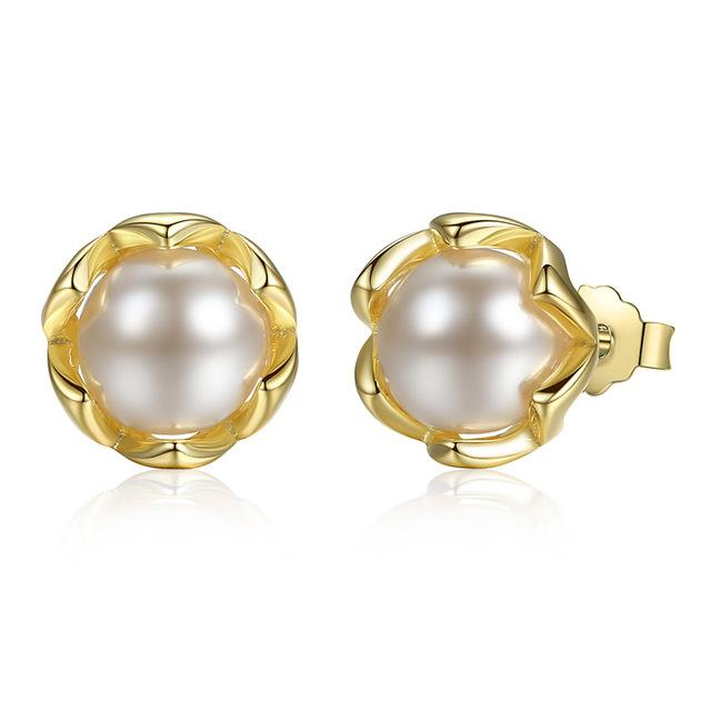 925 Silver: Earrings with freshwater pearls ... BFF05 - Arnaud and Co