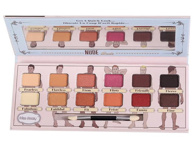 Palette 12 couleurs Miss Doozy Fard Natural Matte ... - Arnaud and Co