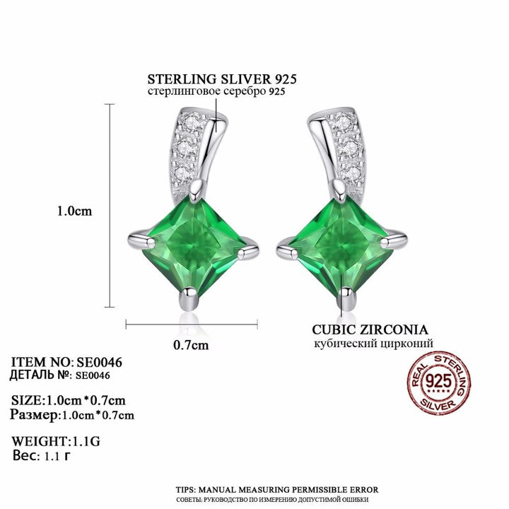 925 Silver Earrings with Star Cut Crystal and Cubic Zirconia, Classic Style Chic ... BBO07 - Arnaud and Co