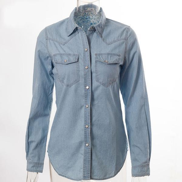 Casual Shirt with Long Sleeves, Decorations Pockets and Buttons ... TCH10 - Arnaud and Co
