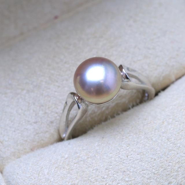 Ring with Silver Frame 925 and Freshwater Pearl Natural Oval ... BBF05 - Arnaud and Co