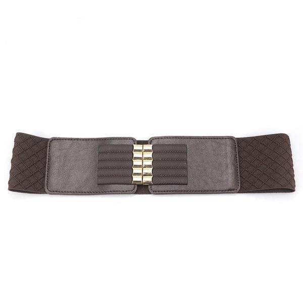 Adjustable Wide Belt in Stretch Fabric and PU Leather to refine your waist. CF029 - Arnaud and Co