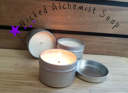 Birchwood Oud Fragrance 6 fl oz Tin Cotton Wick Soy Wax Candle