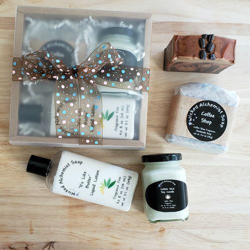 Coffee Shop Gift Set (Soap, Lotion, Small Candle)