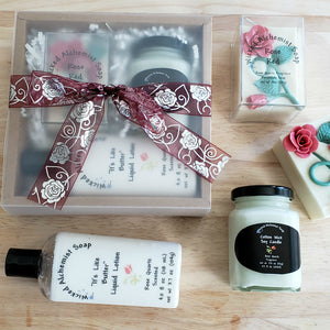 Rose Red Gift Set (Soap, Lotion, Small Candle)