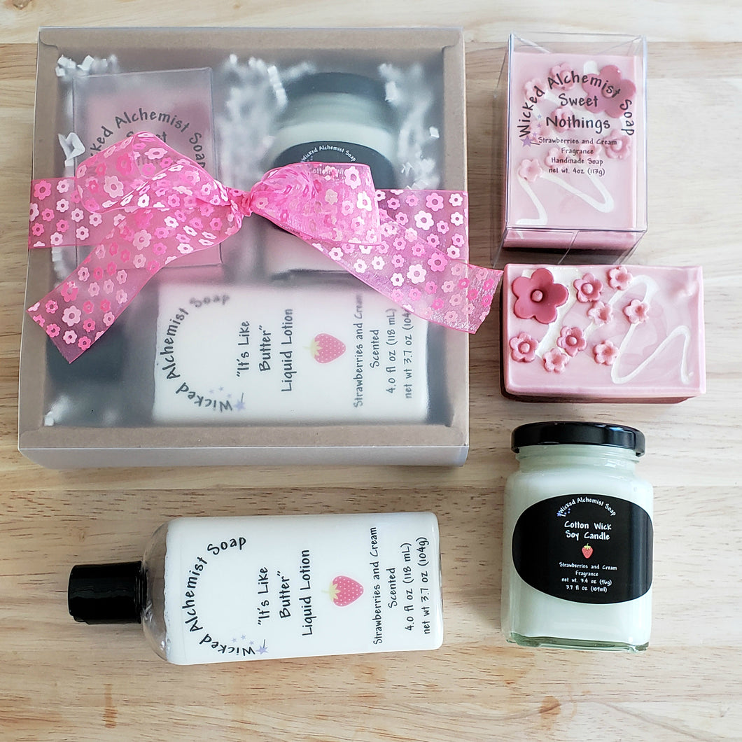 Sweet Nothings Gift Set (Soap, Lotion, Small Candle)