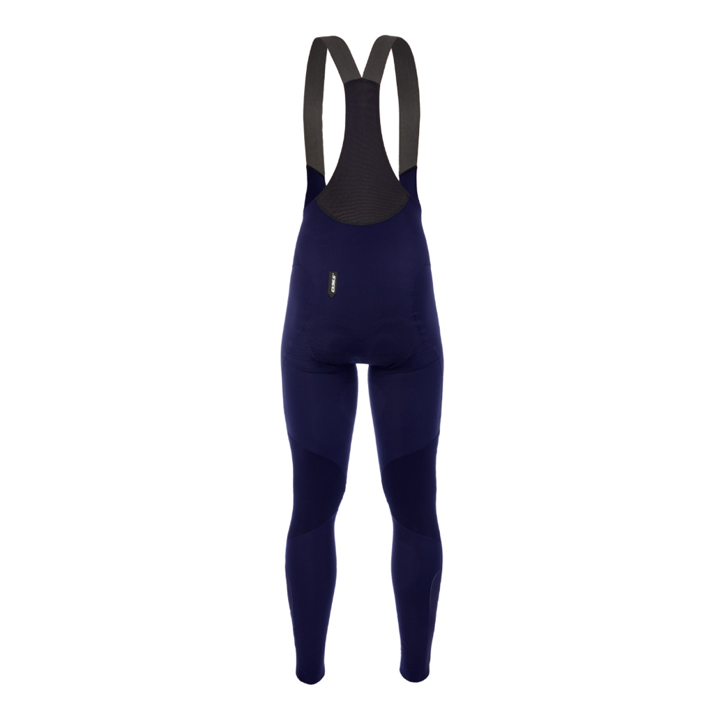 Q36.5 Termica Tights Long Salopette - NAVY - Winter Tights mit Sitzpolster