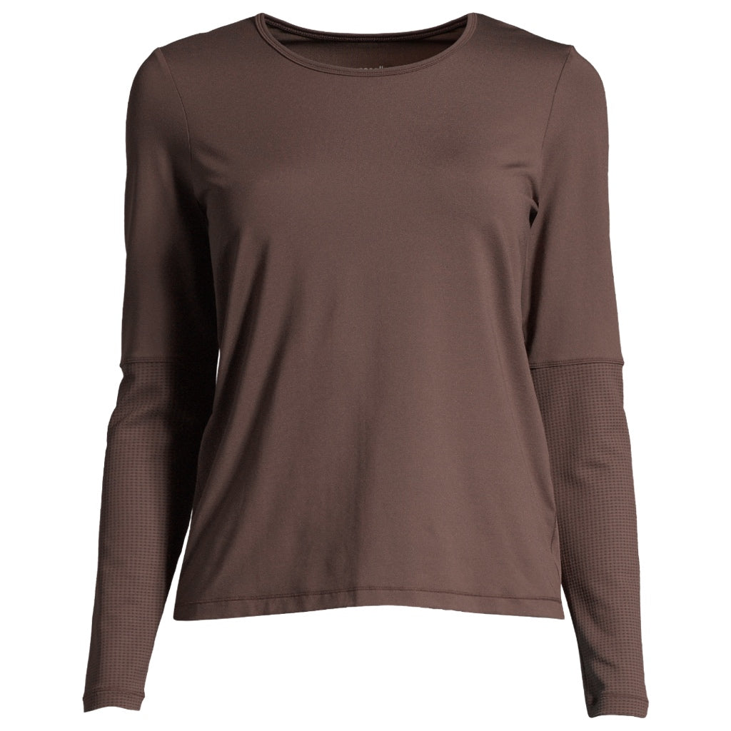 Casall Iconic Long Sleeve, Powerful Brown - nachhaltig