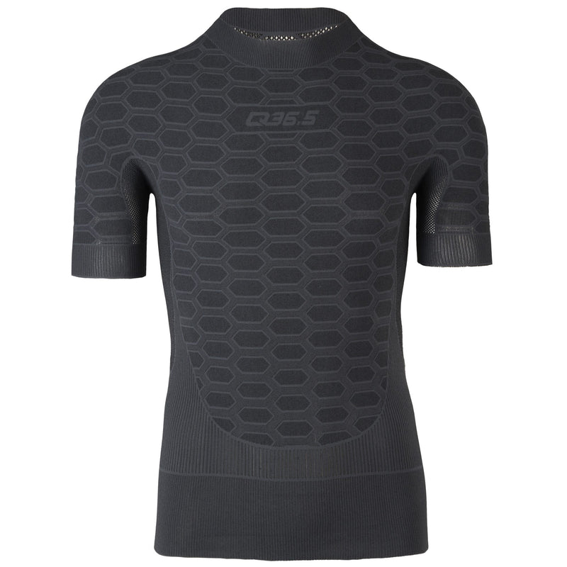 Q36.5 Base Layer 2 kurzarm (anthrazit) - nahtlos gestrickt
