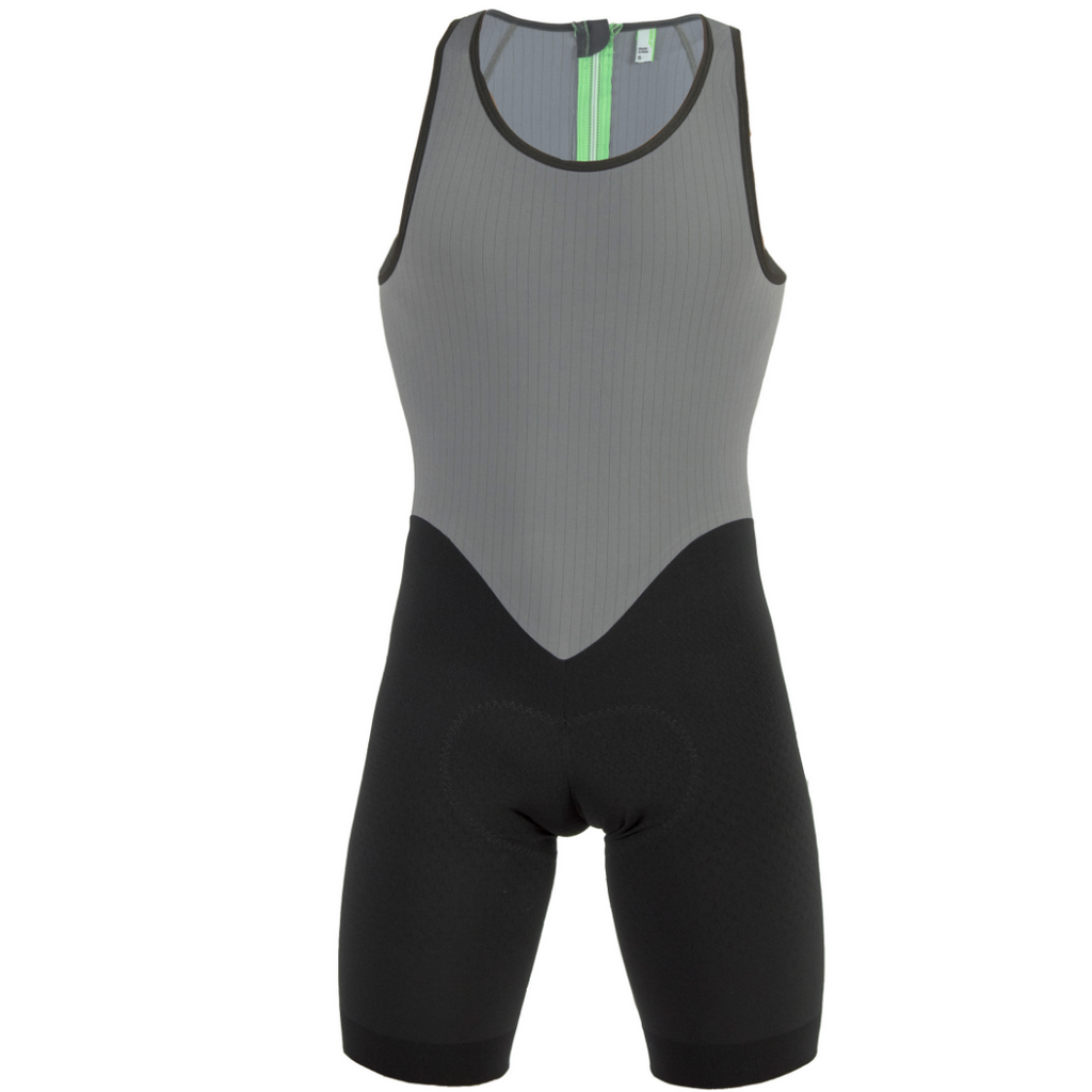Q36.5 Tri Skinsuit Einteiler Triathlon - grau in M, green in L