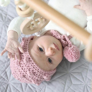 Baby with Pink Bonnet