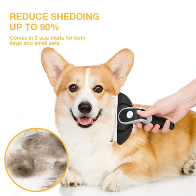 Dog Hair Brush by Hipidog, Remove Dead Hair and Tangles Dog Grooming Brush for Cats and Dogs