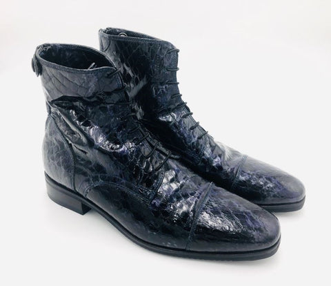 017 Navy Anaconda Short Riding Boots