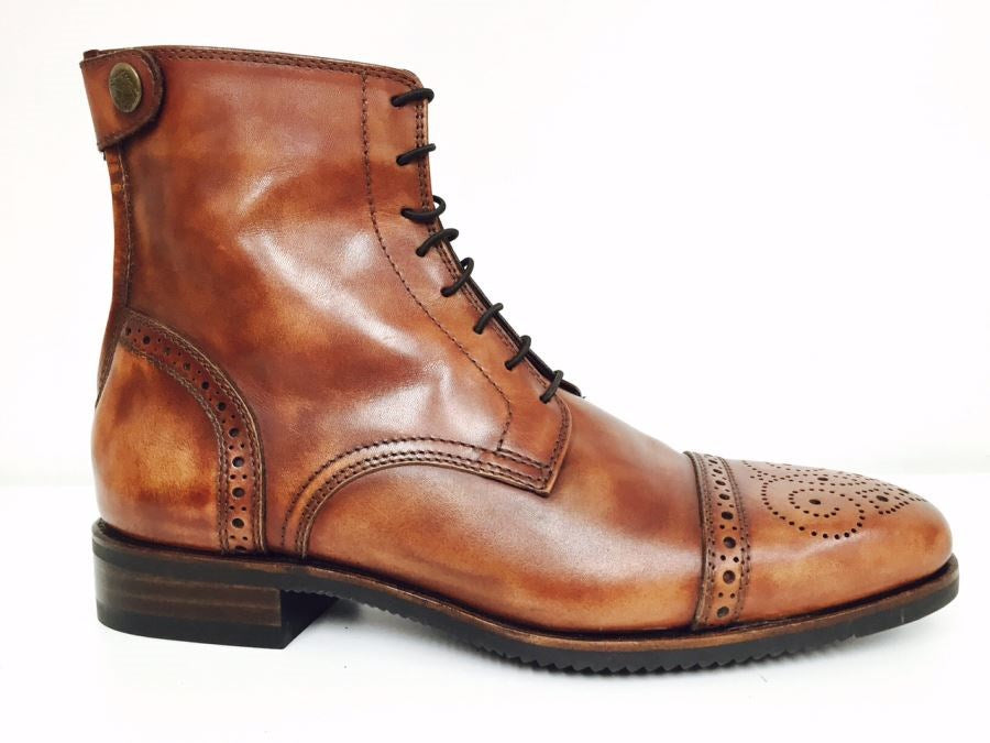 Antique Brown Ankle boots with Brogue