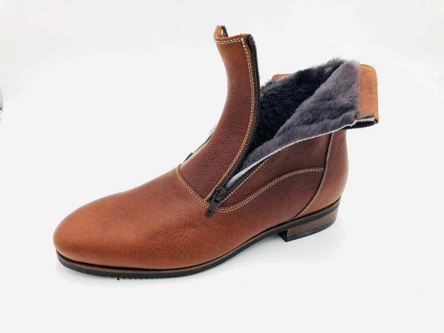 01/770 Cotto Sheepskin Short Riding Boots