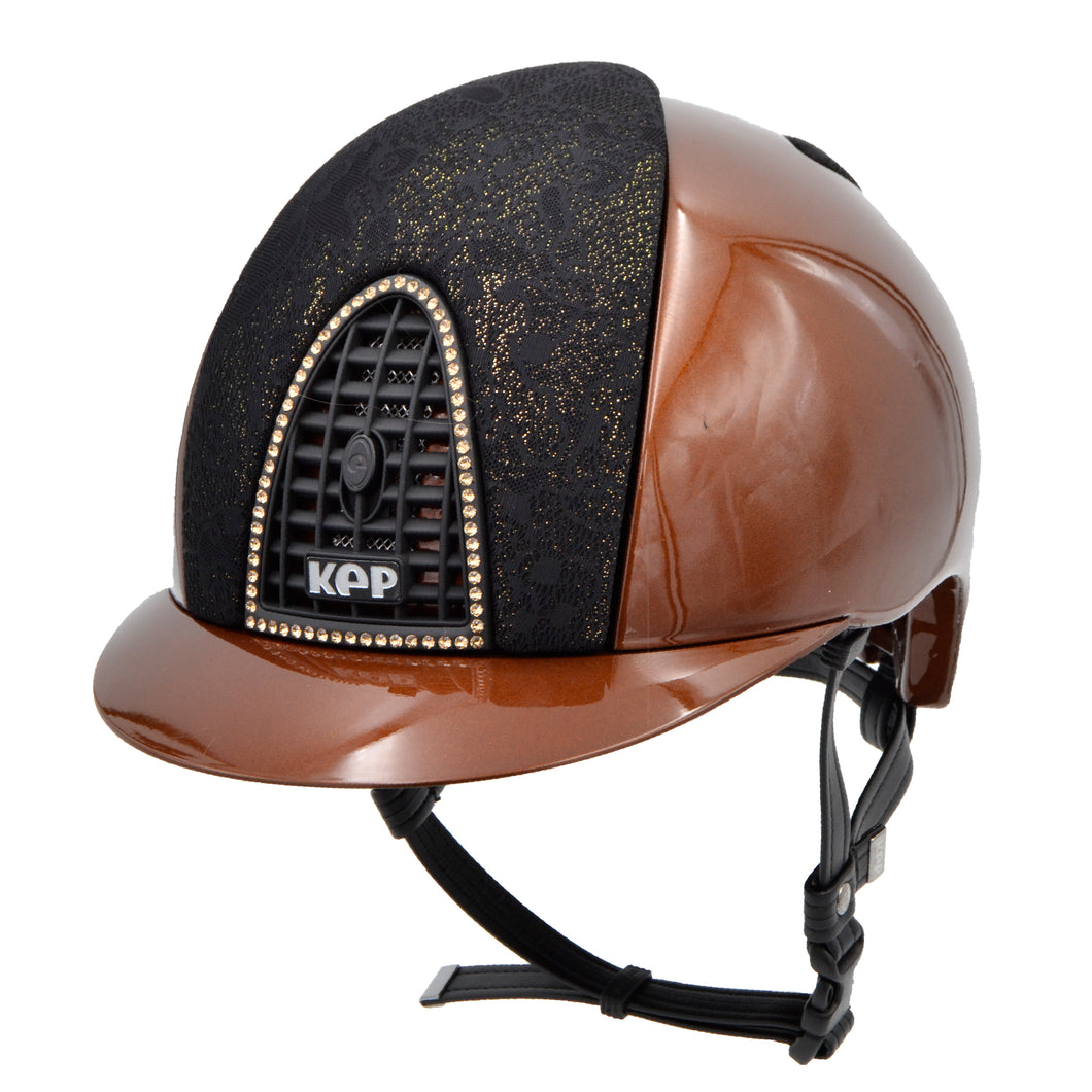 KEP SS20 Cromo Metal bronze with black/gold Iseo fabric front and rear