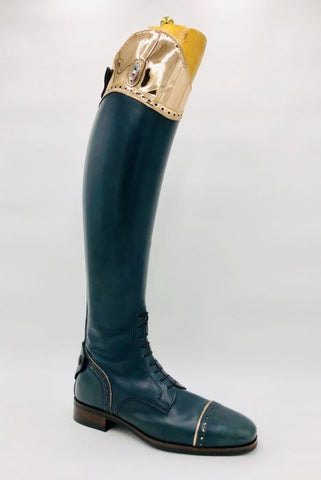 100 F.C rose Gold Top Riding Boots