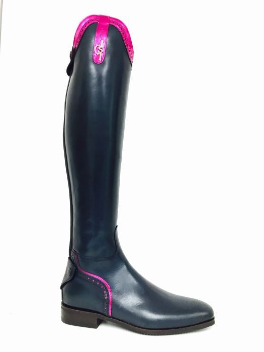 Navy and Pink 101 Riding Boots