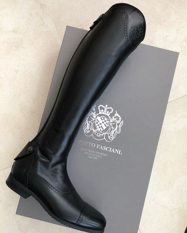 Black Polished Showjumping Boot 33202
