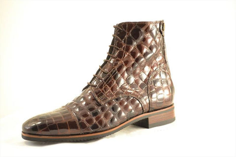 Brown Croc ankle Boots