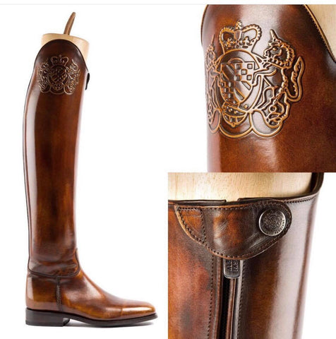 Brushed Brown Dressage Boots