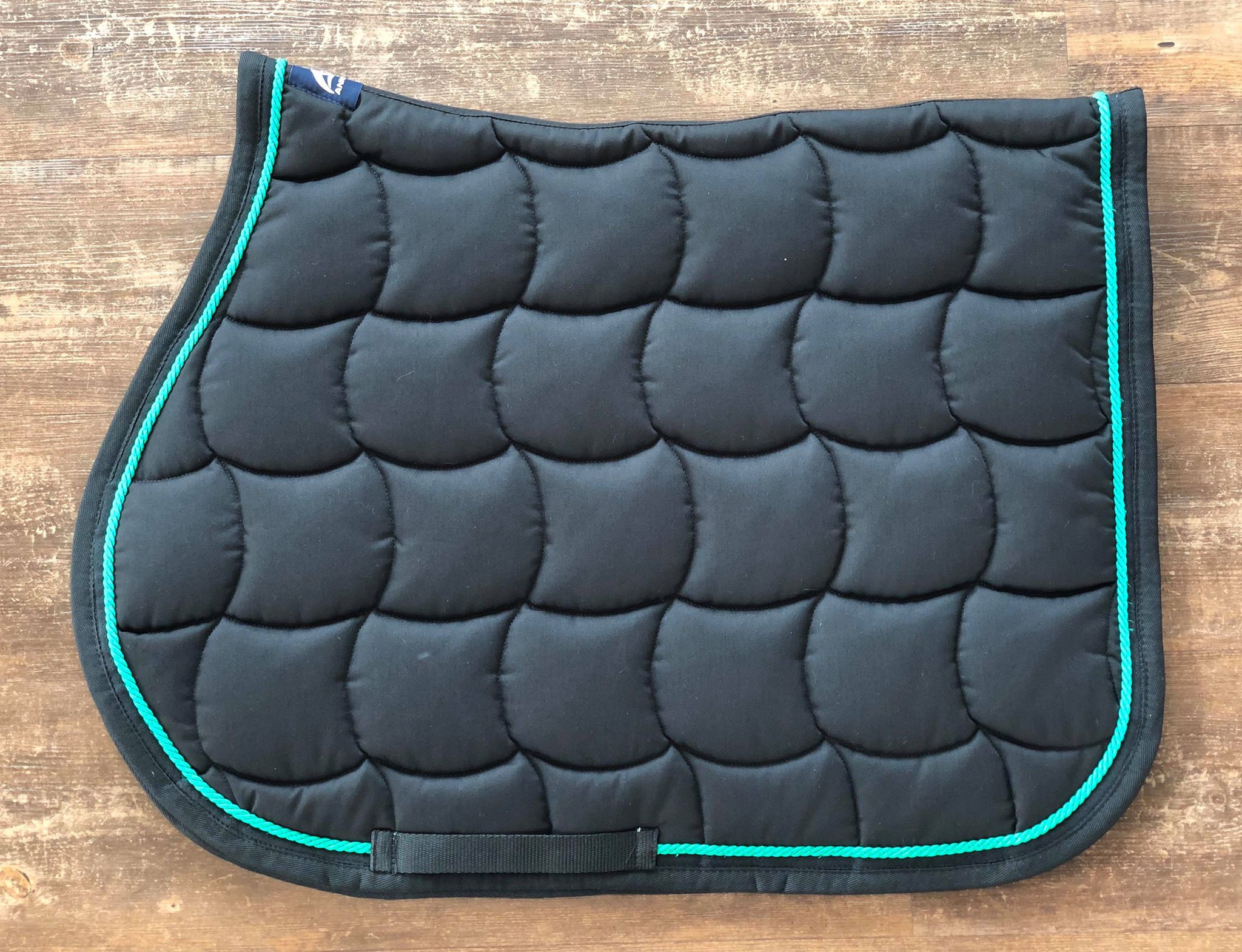 IN STOCK - Black & Green Saddle Pad