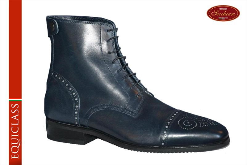 017 Blue / Grey Short Riding Boots