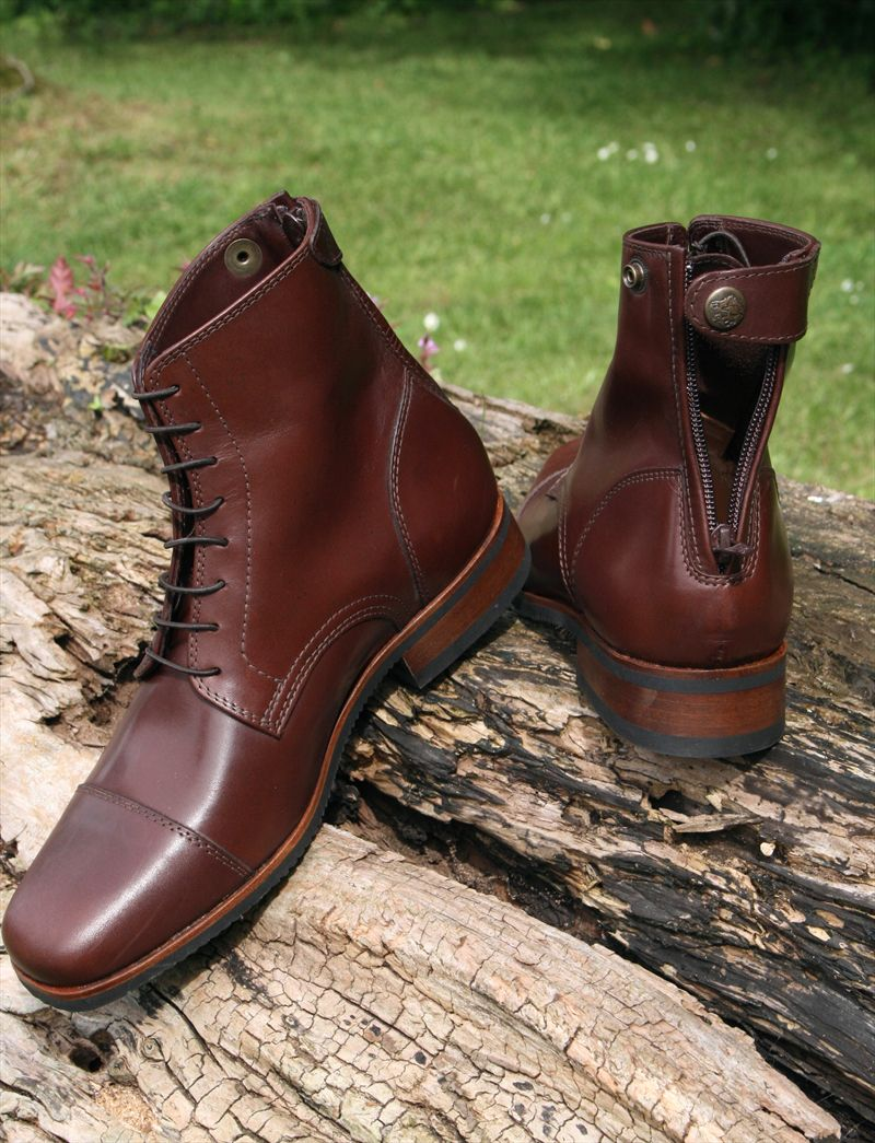 017 Ingrassato Marrone Short riding Boots