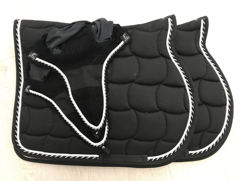 2 Black Saddle Pads & 2 Fly veils