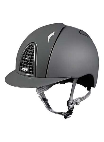 Cromo Textile Grey with polish Grid, Inserts & Visor