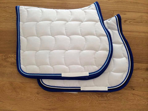 2 White Saddle Pads