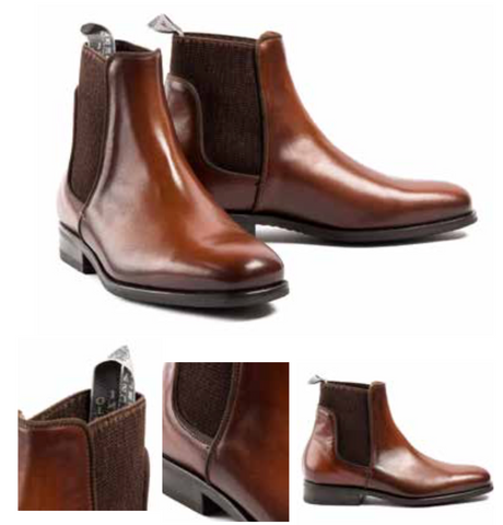 Short Brown Riding Boots