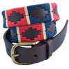 Skinny Argentine Polo Belt - Navy, Red & Cream Stripe