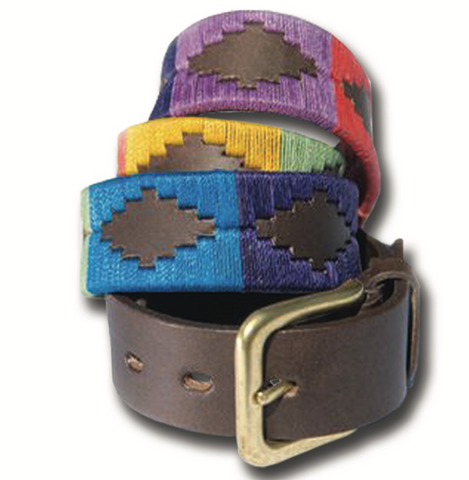 Traditional Argentine Polo Belt - Rainbow