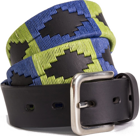 Traditional Argentine Polo Belt - Blackcurrant