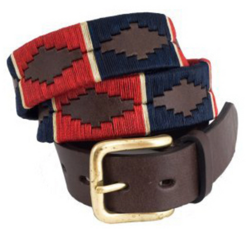 Traditional Argentine Polo Belt - Red River