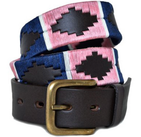 Traditional Argentine Polo Belt - Blush