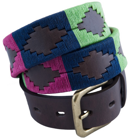 Traditional Argentine Polo Belt - Mint Julep