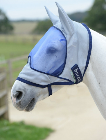 Buzz off deluxe with ears fly mask in stock