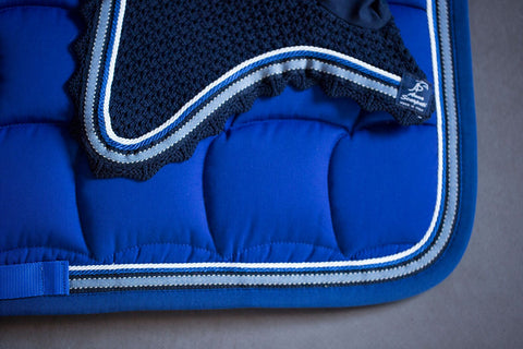 Blue Zueg Fly Veil & Quadro Saddle Pad Set
