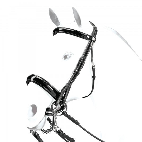 Weymouth  Patent all Rolled Bridle with Dressage Reins