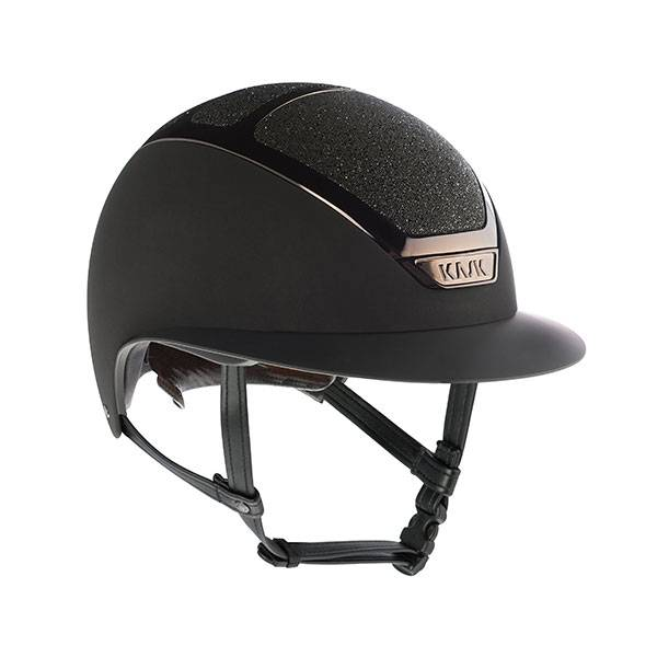 KASK HELMET STAR LADY BLACK SWAROVSKI CRYSTAL
