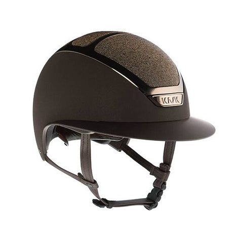KASK HELMET STAR LADY BROWN SWAROVSKI CRYSTAL