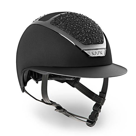 KASK HELMET STAR LADY BLACK ON THE ROCKS SWAROVSKI CRYSTAL