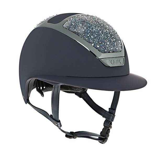 KASK HELMET STAR LADY NAVY ON THE ROCKS SWAROVSKI CRYSTAL